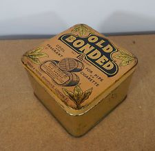 Vintage Old Bonded 1Lb tobacco tin large shop size 15x15x10cm