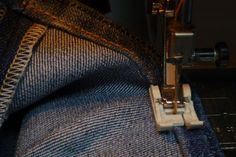 ah ha!  Finally.  Now I know how to make a perfect hem on a pair of jeans!