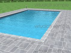 virtualciti 3D architectural render swimmingpool square spblue Rectangular Swimming Pools