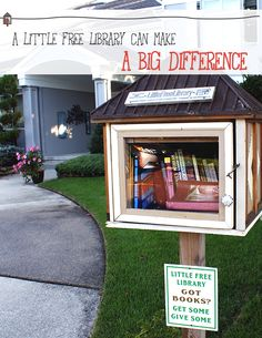 "Anyone can place a ""little free library"" box in their yard with a handful of used-but-great books and a notebook for folks to jot down their thoughts. It then becomes a take-a-book, leave-a-book place and a way to encourage interaction between neighbors or co-workers (yup, even workplaces are jumping on the bandwagon)."
