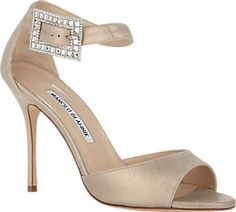 Manolo Blahnik Jeweled-Buckle Dribbin Sandals - Sandals - Barneys.com