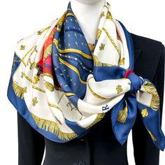 Hermes Vintage, Scarf Tutorial, Vintage Scarf, Scarf Styles, Shawls, Plaid Scarf, Fashion Art, Ready To Wear, Ties
