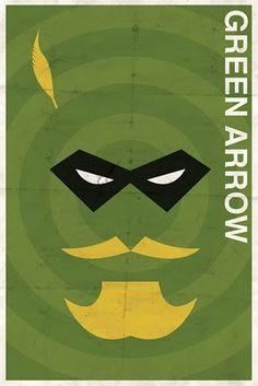 vintage superhero poster