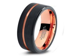 2015 Must Have Tungsten Carbide Wedding Bands High Quality In style Tungsten Carbide Wedding Bands - Comfort Fit - 9mm - 18K Rose Gold Plated  -
