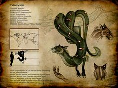 Reptilis felinus by Culpeo-Fox cryptography Mythical Creatures Art, Prehistoric Creatures, Mythological Creatures, Magical Creatures, Fantasy Monster, Monster Art, Monster Hunter, Creature Concept Art, Creature Design
