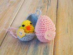 Happy Berry Crochet: How To Crochet a Mini Chick and Egg - Yarn Scrap F...