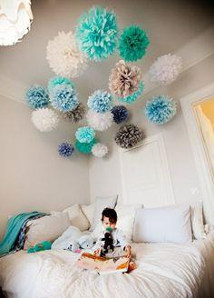 pompoms pompons ponpons basteln selber machen hochzeit party dekoration anleitung kostenlos 2. Black Bedroom Furniture Sets. Home Design Ideas