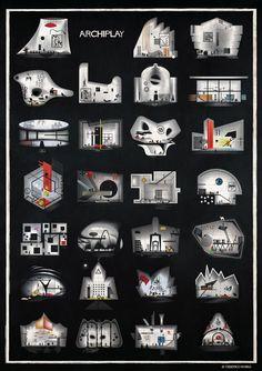 Galería de Las ilustraciones ARCHIPLAY de Federico Babina imaginan escenografías diseñadas por renombrados arquitectos - 8