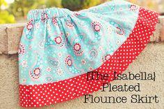 Funky Polkadot Giraffe: Tutorial Thursday: {The Isabella} Pleated Flounce Skirt