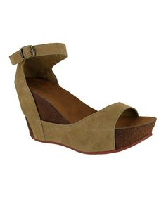 Love this Natural Nova Jam Wedge Sandal by MIA Shoes on #zulily! #zulilyfinds