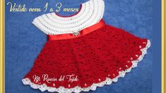 How to crochet a baby dress girl step by step Crochet Baby Poncho, Easy Crochet Blanket, Baby Knitting, Toddler Dress, Baby Dress, Dress Girl, Crochet Basics, Crochet Stitches, Crochet Skirts