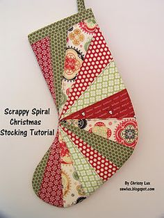 scrappy Christmas stocking