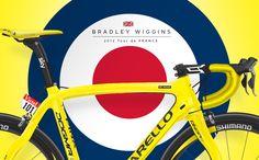 Bradley Wiggins Yellow Pinarello Dogma 65.1