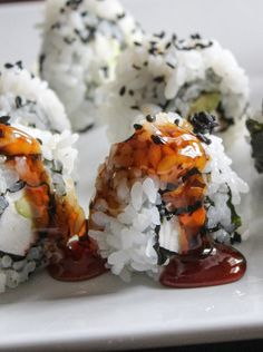Here is my favorite recipe for making your own eel sauce to drizzle over sushi. It is so easy to make and goes great over your homemade sushi rolls. Eel Recipes, Sushi Recipes, Asian Recipes, Thai Recipes, Recipies, Homemade Sushi Rolls, My Favorite Food, Favorite Recipes, Cube Recipe
