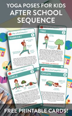 Enjoy our FREE yoga cards! Back to school means that you and your children may be experiencing adding stress, stimuli, and a more hectic schedule. The following poses are designed to help you empower, restore balance, reduce the outside stimuli like light and sound, and to relax and unwind. Enjoy this sequence as an after school ritual together with your children or they can practice on their own.