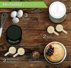 Healthy pancakes! So easy to make and they are seriously delicious. #healthysmoothies #healthybreakfast #proteinpancakes