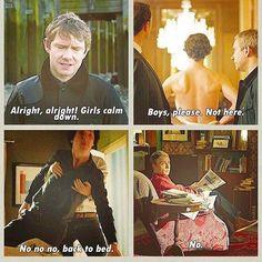 John Watson, mother of Sherlock and Mycroft Holmes. Sherlock Fandom, Sherlock John, Sherlock Holmes Bbc, Jim Moriarty, Sherlock Quotes, Watson Sherlock, Supernatural Quotes, Supernatural Fandom, Johnlock