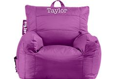 Shop for a Personalized Big Joe Orchid Dorm Bean Bag Chair at Rooms To Go Kids. Find  that will look great in your home and complement the rest of your furniture.