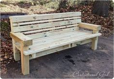 Awesome pine bench...  looks like timbers and 2x4s, and...
