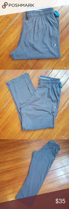 NWT CHAMPION GREY SWEATPANTS mens xl NWT MENS AUTHENTIC CHAMPION BRAND GREY SWEATPANTS ELASTIC WAIST Has side pockets Lightweight 33 inseam  So comfortable Great for spring and summer Champion Pants Sweatpants & Joggers