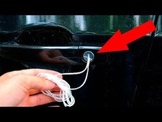 Panic usually sets in when you lock your keys in the car. So how do you handle it? Check out this emergency hack for when you need to pop the lock on your door!