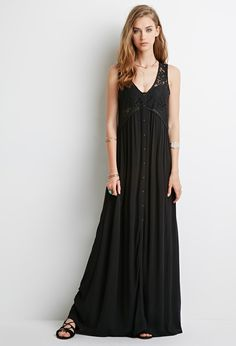 Lace-Paneled Maxi Dress | Forever 21 - 2000052534