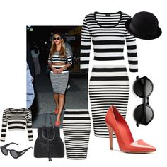 A fashion look from August 2013 featuring Bardot tops, Alice + Olivia pumps and Uniqlo hats. Browse and shop related looks.