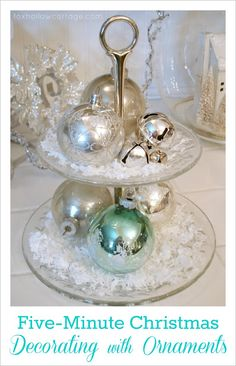 Five Minute Christmas {decorating with ornaments tip} - Fox Hollow Cottage