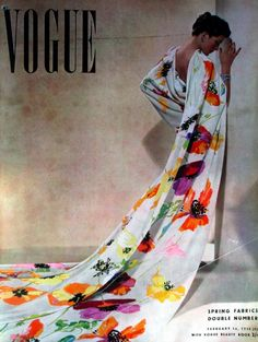 The beautiful cover of a Vogue UK magazine cover from 1938. #vintage #fashion #1930s
