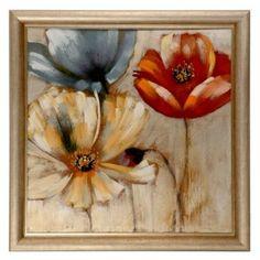 Spring Floral Framed Canvas Print