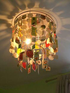 Lampe: abat-jour + papier loto et memo