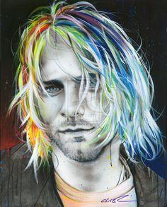In Debt for My Thirst by ~christianchapmanart on deviantART (Kurt Cobain)