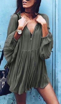 summer outfits Khaki Dress