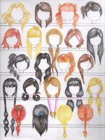 How to Draw Hair, Natural Hair Color Hairstyles: Female Version with thanks to errisirre on deviantART, Art Student Resources for CAPI ::: Create Art Portfolio  Ideas at milliande.com , Art School Portfolio Work