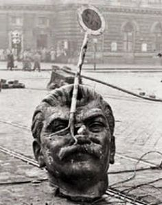 Stalin head, Hungarian Revolution, The Hungarian . Iconic Photos, Old Photos, World History, World War Ii, Budapest, Interesting History, My Heritage, Soviet Union, Cold War