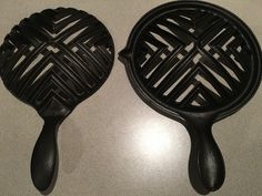 Unknown double broiler.  These two halves fit together with locking points to hold them in place.