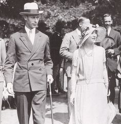 H.R.H. Prince Albert, (later H.M. King George VI) and Lady Elizabeth Bowes Lyon (later H.M. Queen Elizabeth/the Queen Mother.) prior to their engagement.