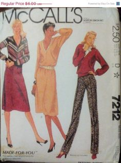 Sale Sale Sale Vintage Sewing Pattern by SewYesterdayPatterns (Craft Supplies & Tools, Patterns & Tutorials, Sewing & Needlecraft, Sewing, commercial, sewing pattern, mccalls pattern, craft supplies, sewing supplies, patternpatter, collectible, vintage pattern, 1980s pattern, misses womens, misses top pattern, size medium 14 16, 80s skirt pattern)