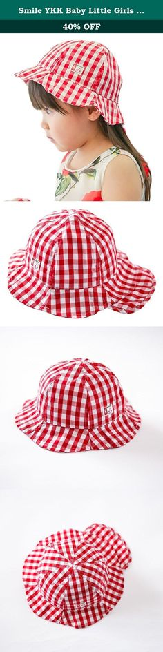 Smile YKK Baby Little Girls Boys Cotton Plaid Pink Outdoor Fishing Sun Hat 54cm. Material:Cotton Head circumference 48cm,Suggested age 6-12 month Head circumference 50cm,Suggested age 1-2 years old Head circumference 52cm,Suggested age 2-4 years old Head circumference 54cm,Suggested age 4-6 years old Distinctive design,fashionable hat Soft,lightweight and breathable Provide great protection from the sun Great for baby to wear on sunny days and keeps baby in style .