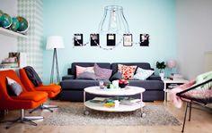 È importante creare un equilibro tra le pareti bianche o neutre e i dettagli e i tessili colorati - IKEA