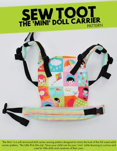 Doll Carrier Pattern The Mini by Sew Toot Digital PDF by SewToot