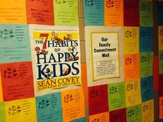 Family commitment wall