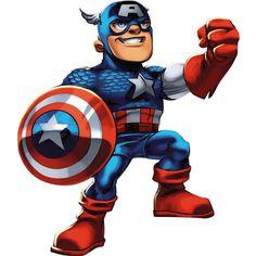 super hero squad captain america | Captain America: Super Hero Squad. Fathead Wall Graphics. 96-96061 ...