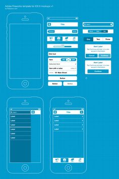 Template for iOS 6 UI wireframing