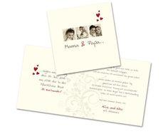 Foto+Hochzeitseinladungen+-+Von+Herzen