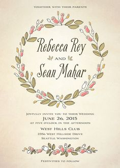 Sweet Rose #Wedding Invitation Collection from Evermine