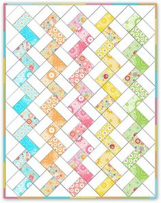 simple jelly roll quilt. Very quick pattern.                                                                                                                                                     More