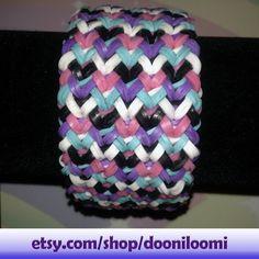 Pretty Girly Ultra Thick Weave Braid Rainbow Loom by DooniLoomi, $12.75