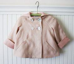 Summer Linen Bunny Coat by littlegoodall on Etsy