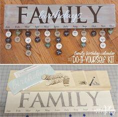 Family Birthdays - $39 + tax + shipping